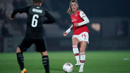 Arsenal's Jill Roord during the UEFA Women's Champions League round of 16 second leg match at Meadow