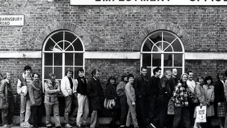 Employment Office, Barnsbury Road, 1980s. Picture: London Borough of Islington �Libraries