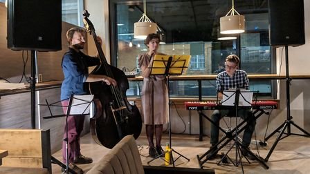 The jazz group, Stanza Da Tre, perform their latest themed concert this Friday. Picture: Supplied.