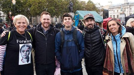 Members of the XR Brent group at Trafalgar Square. Picture: Tim Hoy