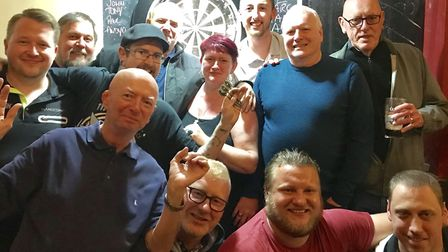 The Slattery's darts team, who compete in the Archway Darts League. Picture: James Martin