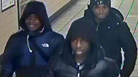 Police want to trace these men in connection with a robbery in Seven Sisters on November 9. Picture