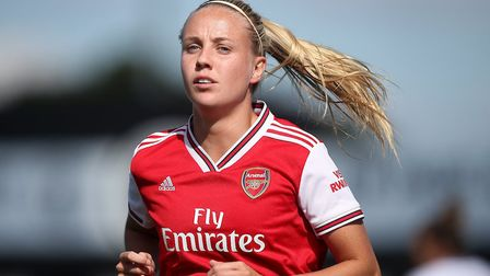 Beth Mead of Arsenal during Arsenal Women vs West Ham United Women, Barclays FA Women's Super League