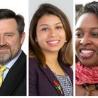 Left to right: Barry Gardiner, Tulip Siddiq and Dawn Butler are all standing again
