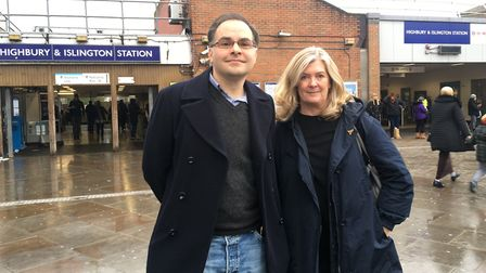 Lib Dem election hopefuls for Islington north and south, Nick Wakeling and Kate Pothalingam. Picture