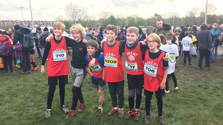 Queens Park Harriers members at the London Youth Games. Picture: QPH