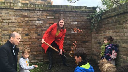 Liberal Democrat leader Jo Swinson plants a tree at the Razumovsky Academy in College Road, Kensal G
