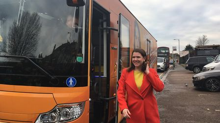 Jo Swinson's Liberal Democrat battle bus rolls into Kensal Rise intent on picking up new voters. Nat