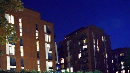 Blocks in West Hampstead with some lights on and others off. Picture: Polly Hancock