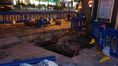 The work to fix the pipe affected the water supply for people in Holloway. Picture: Joe Elliott