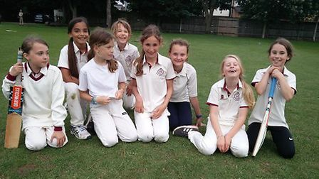 North Middlesex CC Under-11 girls. Picture: North Middlesex CC