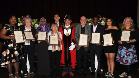 Last year's Mayor's Civic Awards with then-mayor Cllr Dave Poyser. Picture: Islington Council