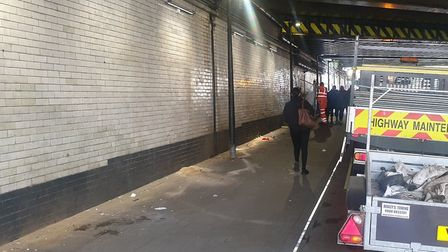 The fencing was finally removed from under Stroud Green Bridge yesterday. Picture: Streets Kitchen