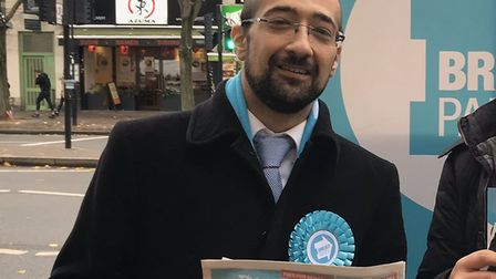 Islington North Brexit Party candidate Yosef David. Picture: Supplied