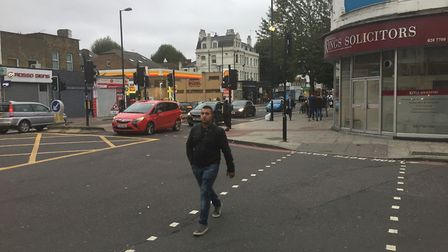 The crossing on Palmer Place where the street meets Holloway Road. Picture: Alistair Pegg