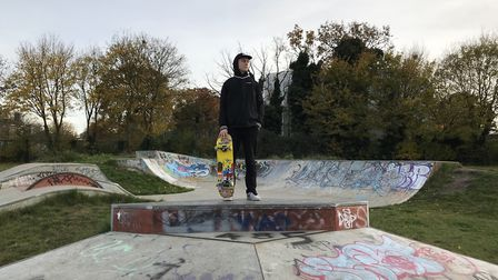 Daniel Gravis has launched a petition to have lights installed at Roundwood Park's skate park