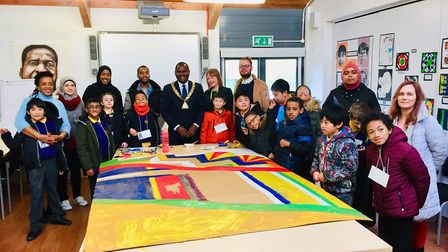 Mayor of Brent Cllr Ernest Ezeajughi at St Raphael's Children Centre during a takeover day by Phoeni