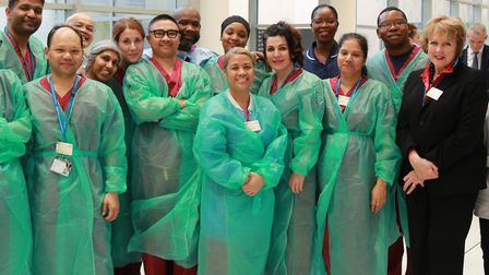 Staff at Central Middlesex Hospital celebrated 250th robotic surgery knee replacement
