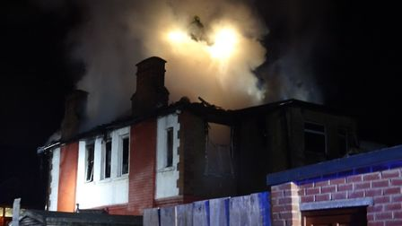 Fire in Denzil Road, Dollis Hill. Picture: David Nathan