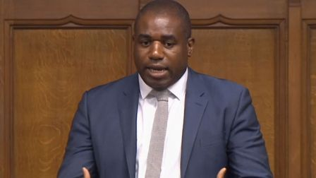 David Lammy in the House of Commons. Photograph: PA.