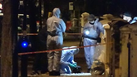 Shooting in Walterton Road, Kensal Green. Picture: David Nathan