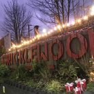 Cricklewood station concourse up in lights. Picture: Cricklewood Town Team