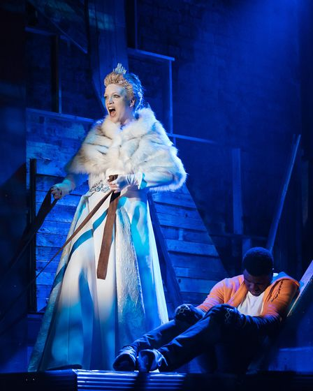 Frances Marshall and Esmonde Cole in The Snow Queen at Park Theatre