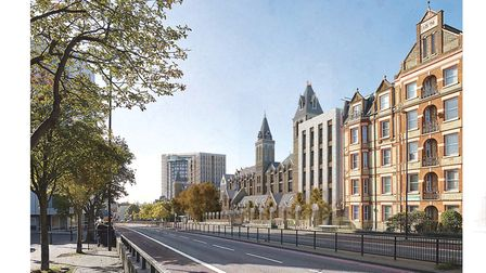 An artist's impression of how the site could look. Picture: Peabody