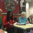 Green's William Relton Labour's Dawn Butler, Mary Adossides of Brent Trades Council and Liberal Demo