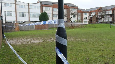 A man's dead body has been found in a communal area of St Raphael's Estate. Picture: David Nathan