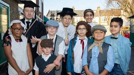 Children and staff mark Christchurch School's 130th birthday by dressing in Victorian clothesHeadte