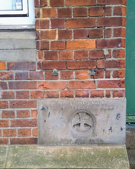 The foundation stone at the 130-year-old Christchurch CE Primary School in Brondesbury