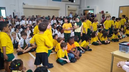Prize giving at Christchurch CE Primary School in July 2019