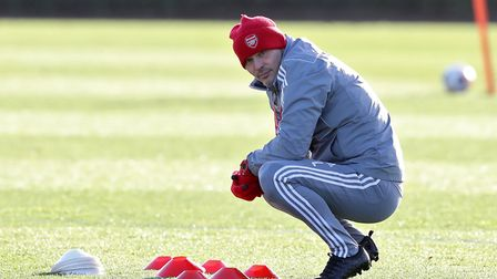 Arsenal interim head coach Freddie Ljungberg during the training session at London Colney. Picture: