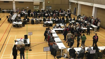 The General Election 2019 count begins at the Sobell Leisure Centre. Picture: Lucas Cumiskey