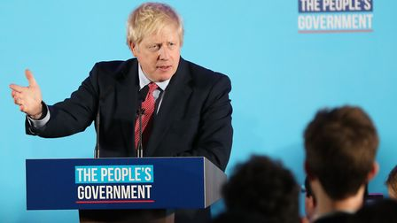 Prime Minister Boris Johnson at a victory rally on December 13, 2019. Picture: Gareth Fuller/PA Wire