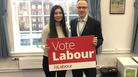 Cllr Gulcin Ozdemir with Islington leader Cllr Richard Watts. Picture: Islington Labour