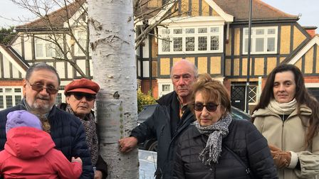 Kenton neighbours launch a petition to save the trees on the Ridgeway. Picture: Sandra Levy