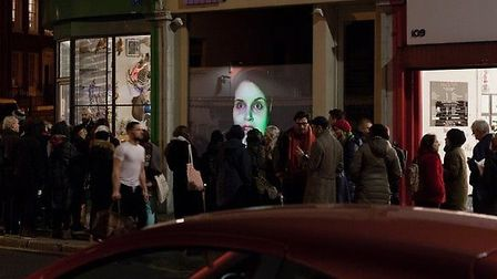 Short films will be projected on to the street from Tintype's window from January 9.
