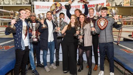Some of the boxers with their awards at Islington Boxing Club (pic Emma Tarrant/etfightography)