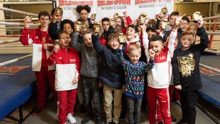 Junior boxers with their awards at Islington Boxing Club (pic Emma Tarrant/etfightography)
