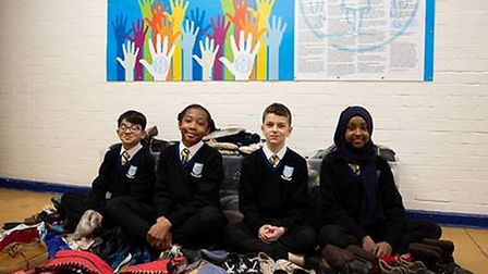 Kingsbury High School pupils have collected more than 300 pairs of shoes for Unicef