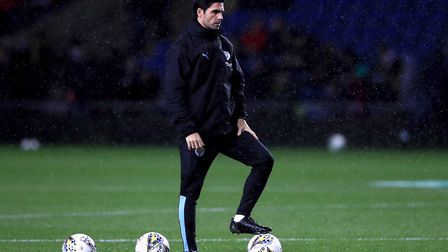 Manchester City assistant manager Mikel Arteta before the Carabao Cup quarter final match at Kassam