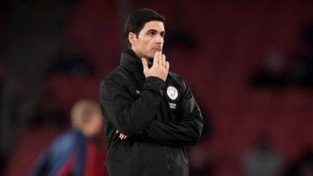 Manchester City assistant manager Mikel Arteta before the Premier League match at The Emirates Stadi