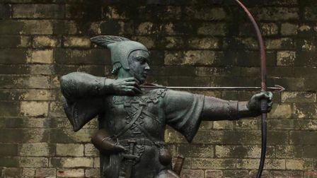 Stock image Robin Hood statue in Nottingham. Picture: Yui Mok