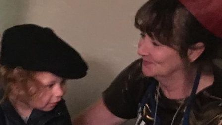 The last picture taken of Tracey Wilson and her grandson Cody, whom she 'dotted on'. Picture: Courtn