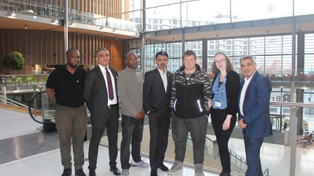 Fedell Jackson with members of Brent Council and the Forward Trust. Picture: Brent Council