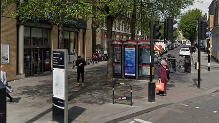 The crime-ridden phone boxes that could be replaced with an InLink unit. Picture: Google