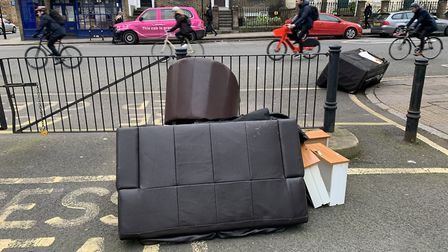Fly-tipping at the junction of College Cross and Liverpool Road. Picture: Andre Langlois