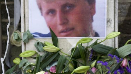 The shrine where Henry Hicks died in a police chase in Islington. Picture: Arnaud Stephenson